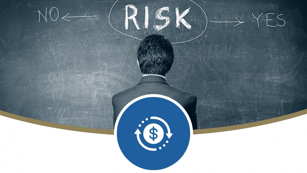 financial advisor managing investment risk